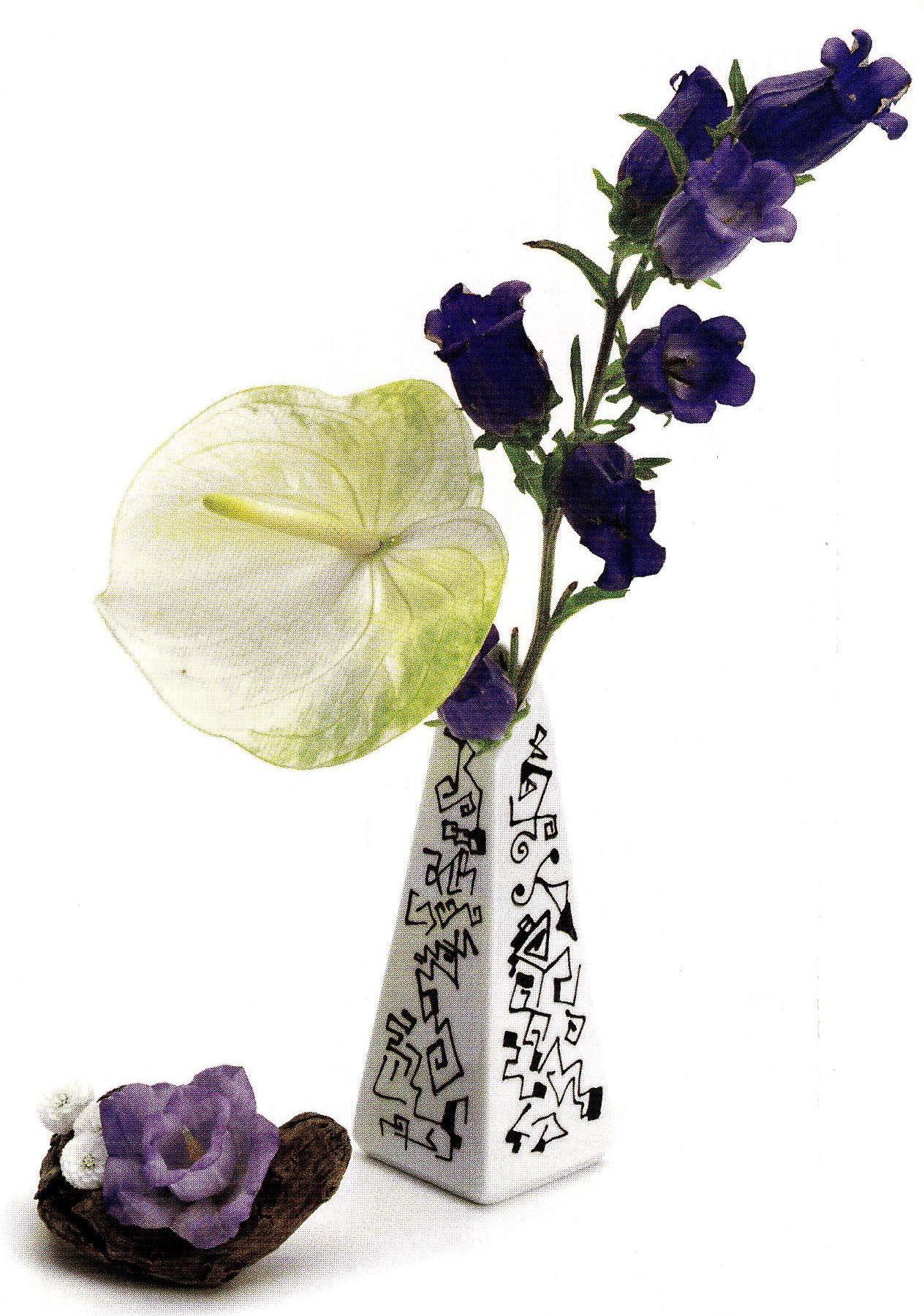 Buchetul de flori si vaza