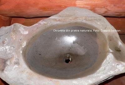 Chiuveta din piatra naturala, pentru o baie originala