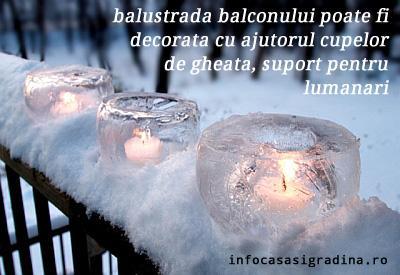 Inspiratie: decoratiuni de iarna pentru balconul tau