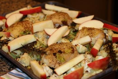 Friptura de pui cu mere
